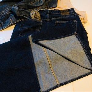 NWOT RALPH LAUREN Long Denim Jean Pencil Skirt